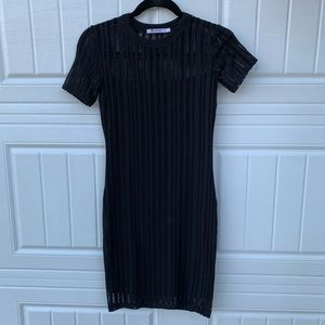T by Alexander Wang Black Short Sleeve Dress XS